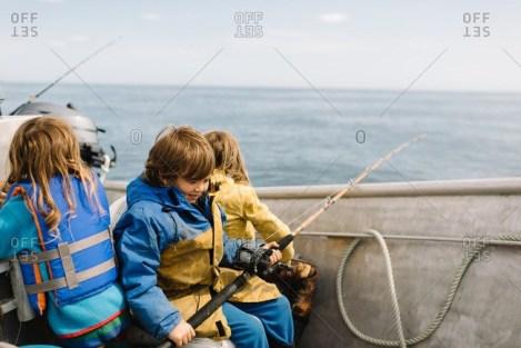 Children Enjoying Fishing
