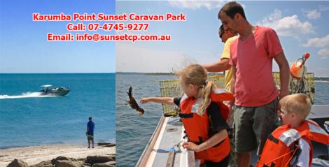 Karumba Point Sunset Caravan Park Children Fishing Enjoying