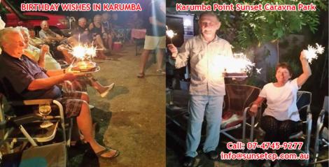 Birthday Wishes in Karumba Point Sunset Caravan Park