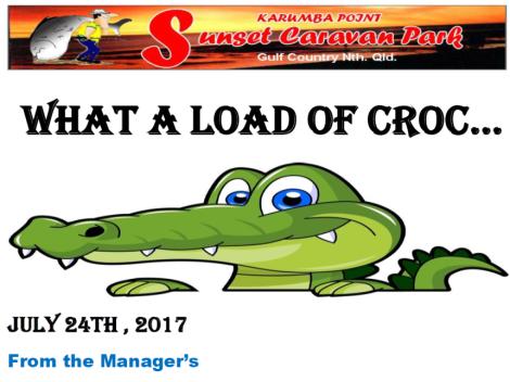 What Croc 25-07-2017 Karumba Point Sunset Caravan Park
