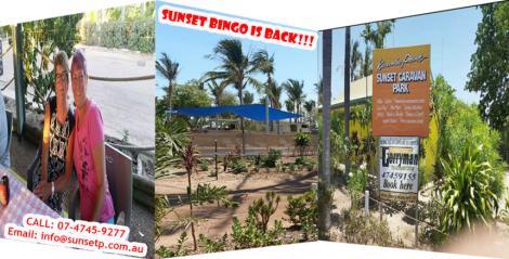 Sunset Bingo is back at Karumba Point Sunset Caravan Park