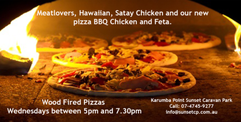 A Wooden Fired Pizza Wednesdays between 5pm and 7