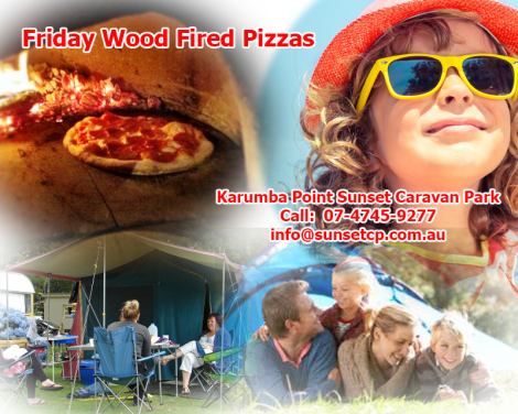 Karumba Point Sunset Caravan Park Friday Wood Fired Pizzas